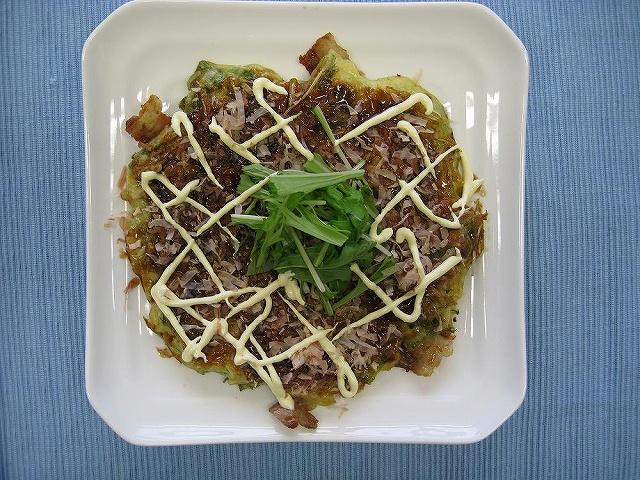水菜のお好み焼き